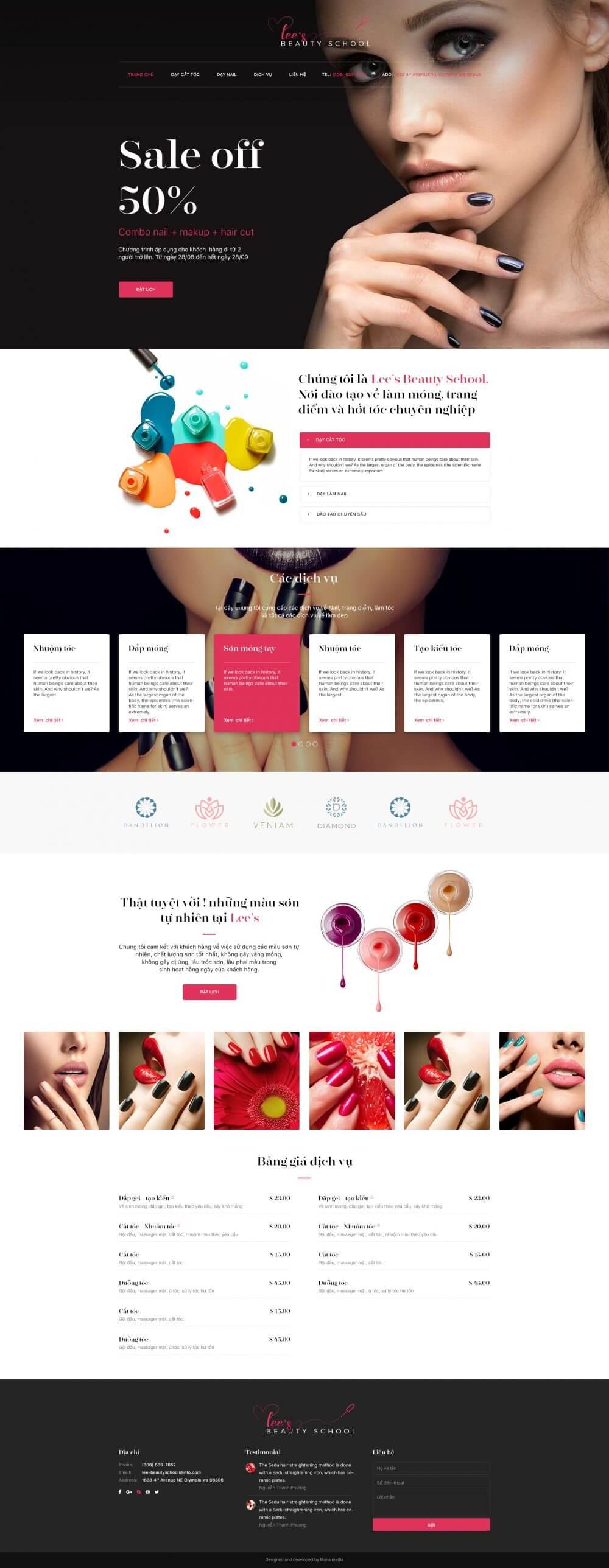 Lee nail – Chuỗi tiệm nail hàng đầu mỹ
