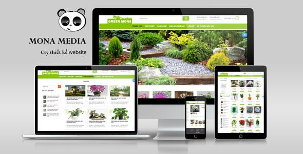 Mẫu Website bán cây cảnh