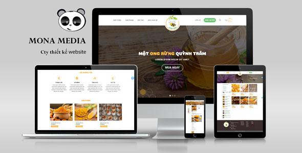 Mẫu website bán mật ong, tinh bộ nghệ, nấm linh