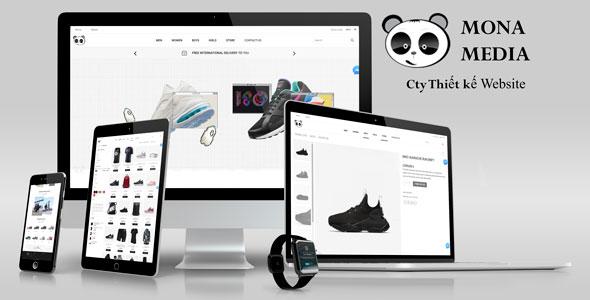 Mẫu thiết kế website bán giầy giống nike