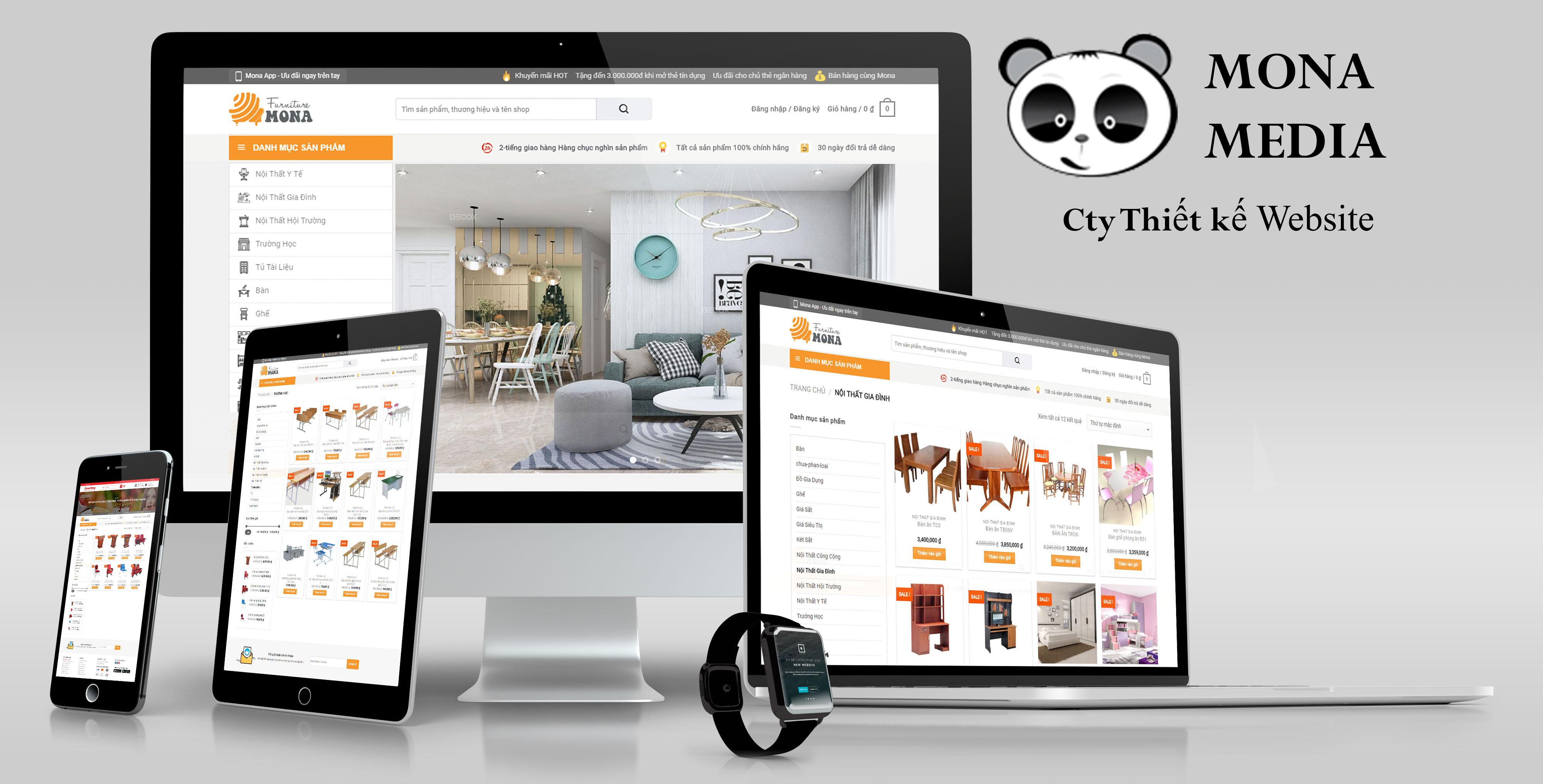 Mẫu website bán hàng nội thất