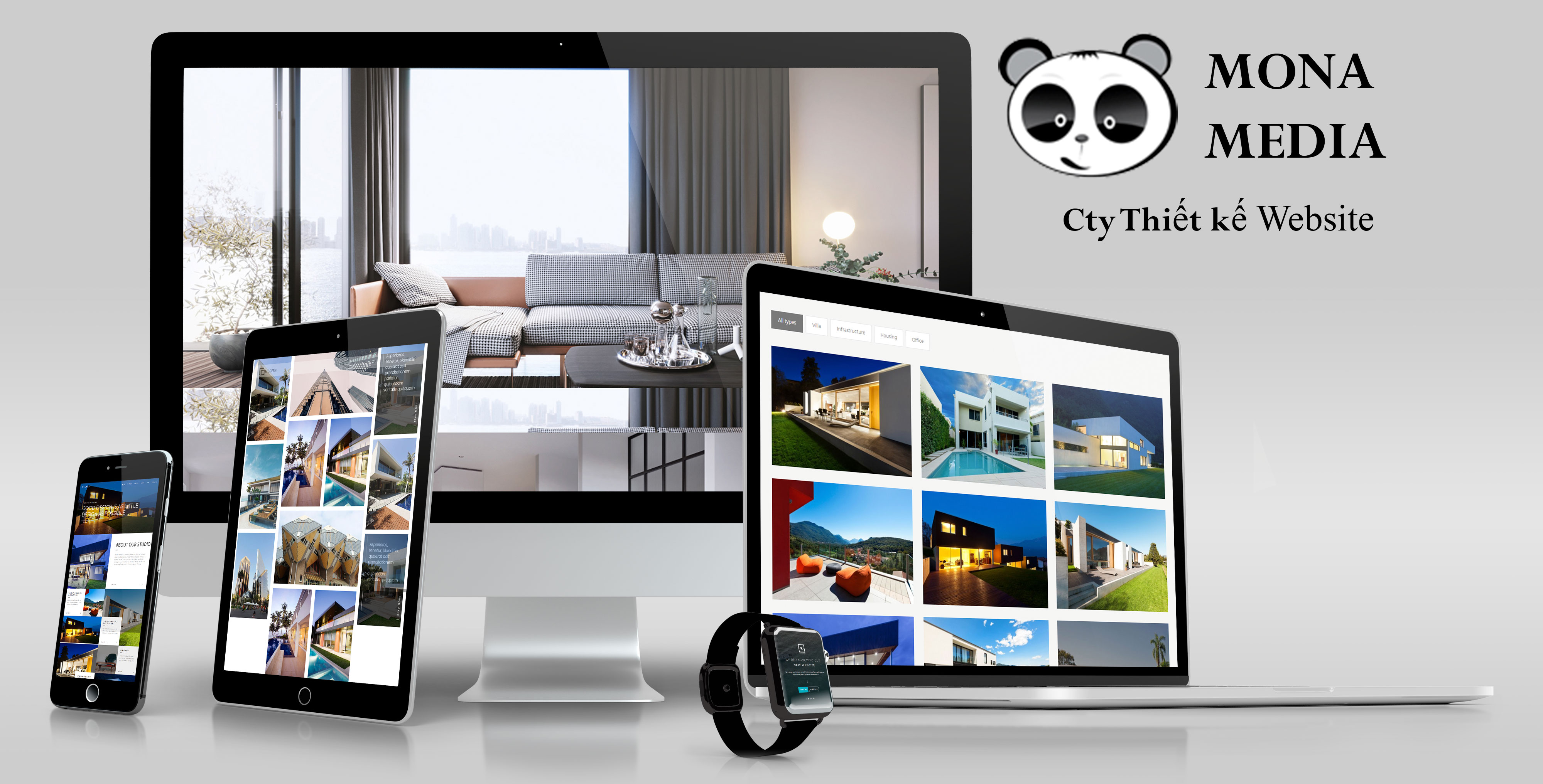 mẫu website nội thất nhà