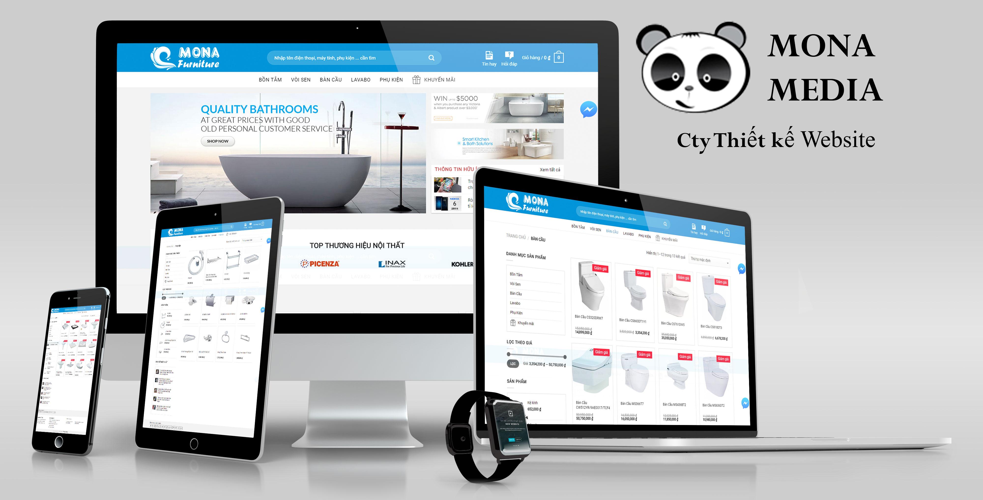 Mẫu website bán hàng nội thất nhà tắm
