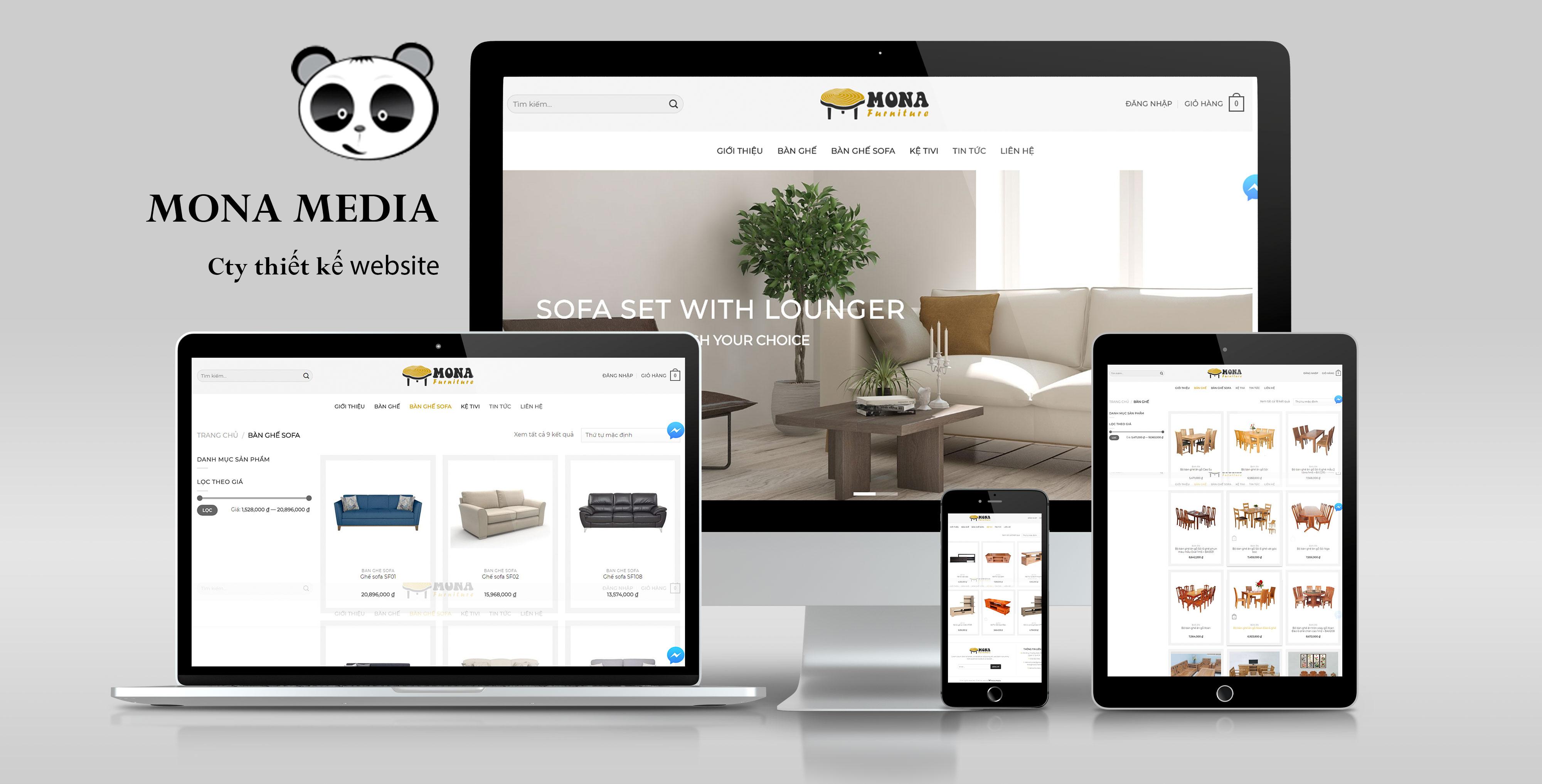 Mẫu website bán hàng nội thất bàn ghế