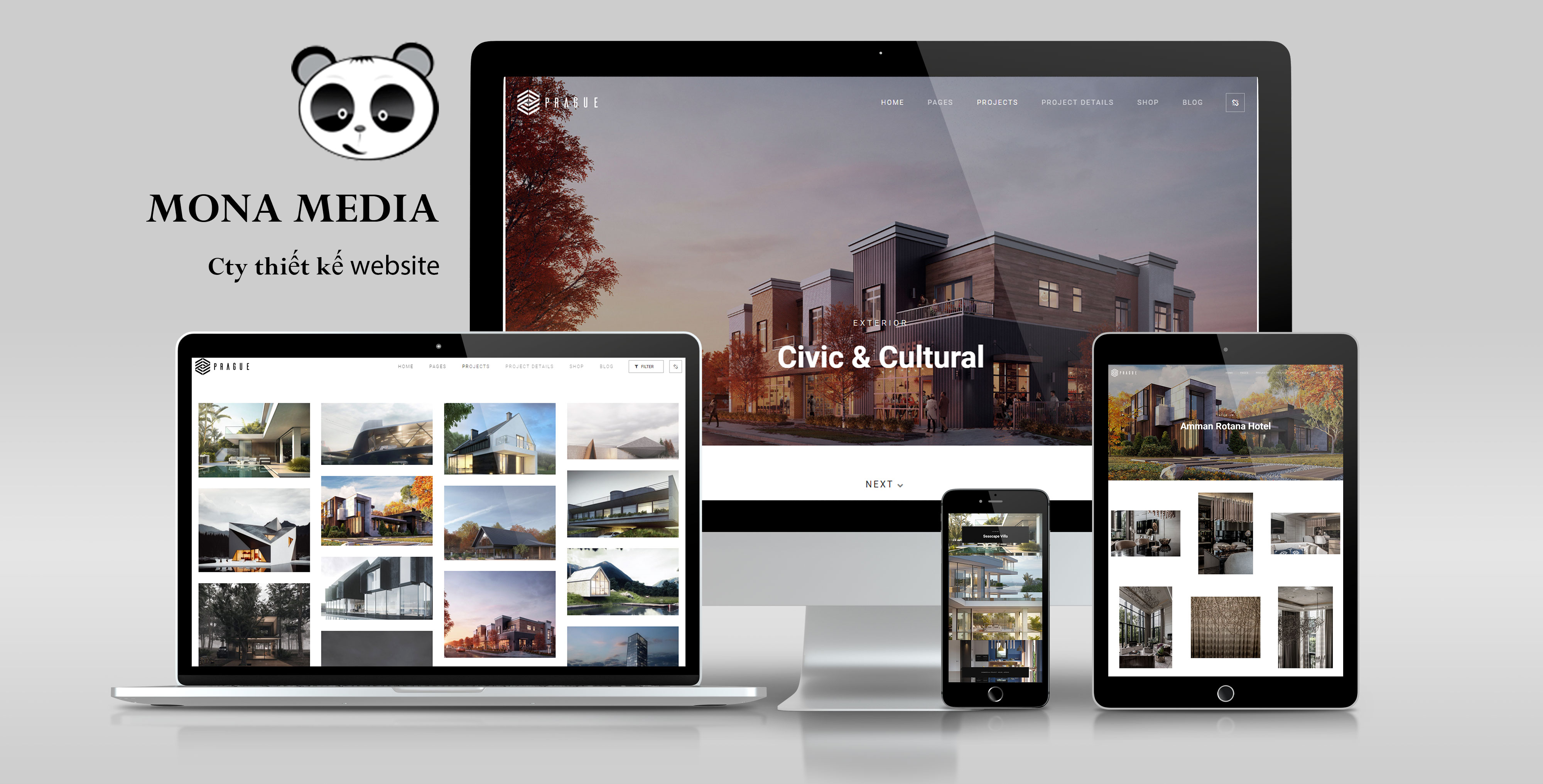 mẫu website kiến trúc nhà đẹp