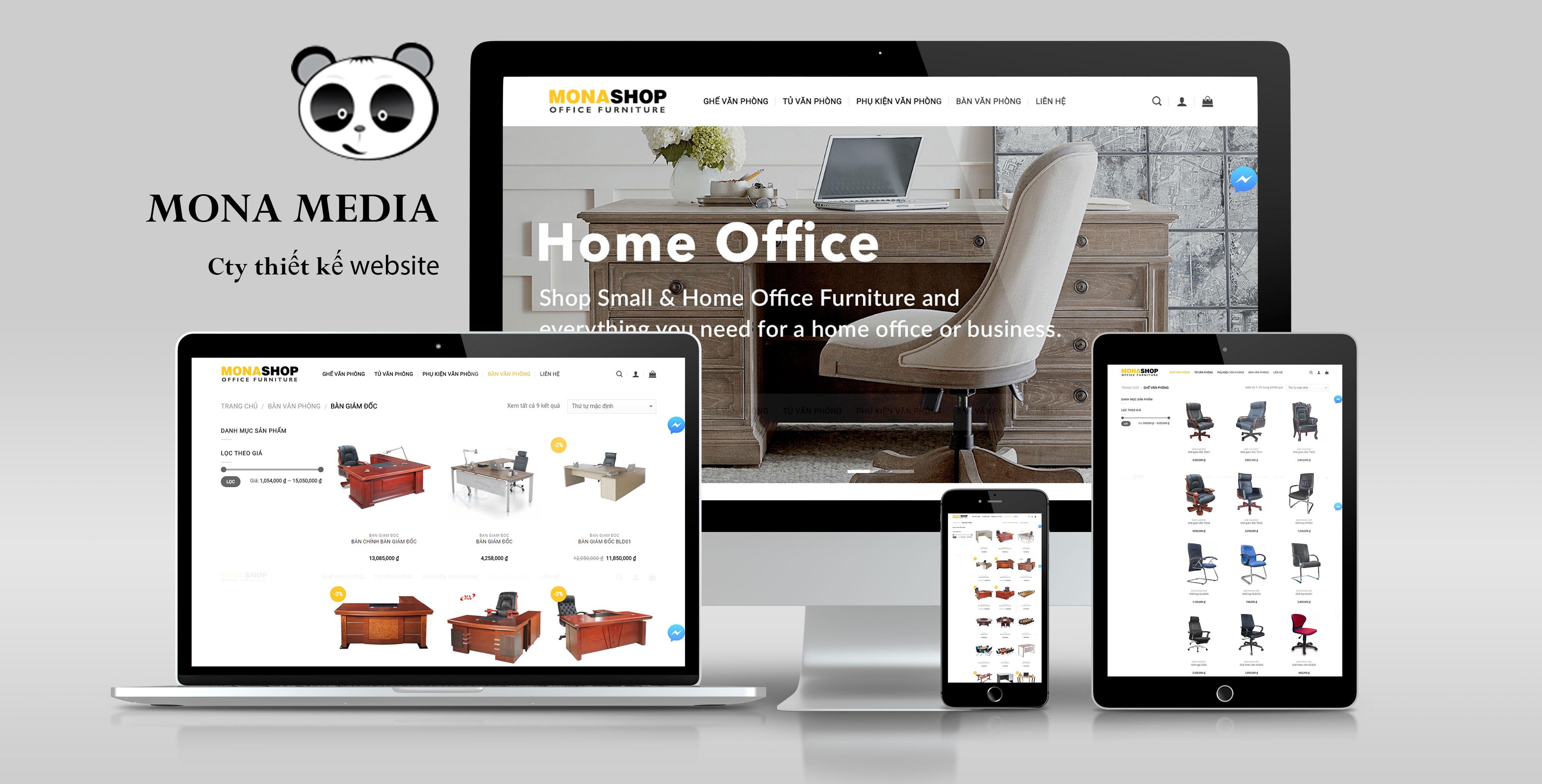 Mẫu website bán hàng nội thất văn phòng