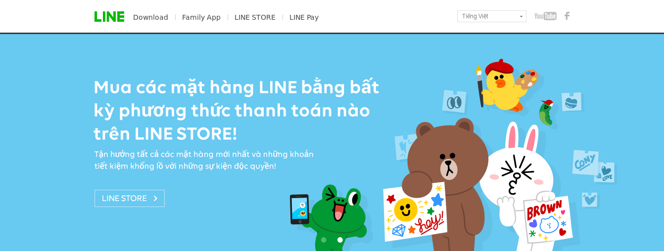 Thay thế Facebook với LINE