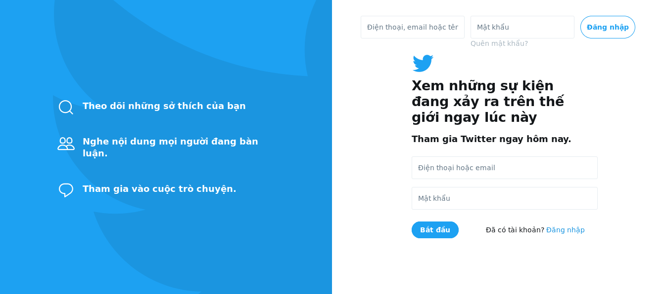 Thay thế Facebook bằng Twitter