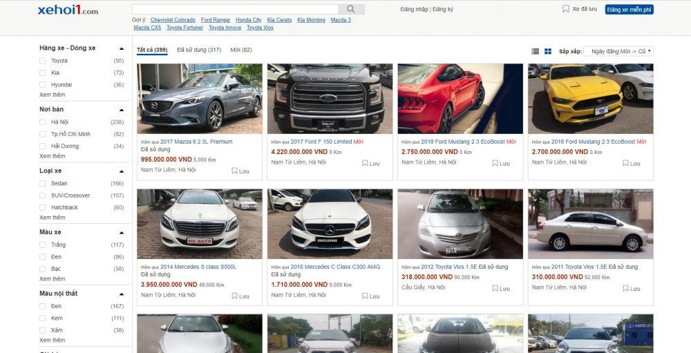 Xe hơi 1 - Website rao vặt ô tô xe hơi