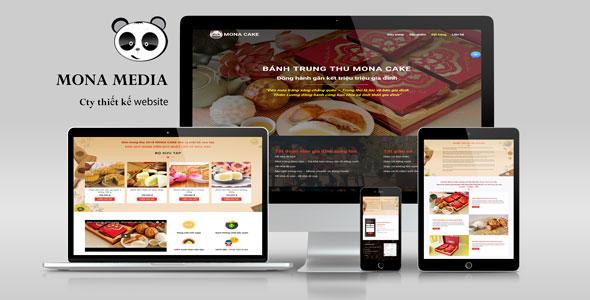 Mẫu website landingpage giới thiệu sản phẩm bánh trung thu