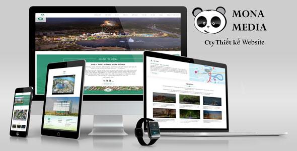 Mẫu website landingpage giới thiệu khu đô thị hiện đại