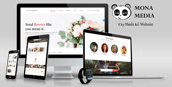 Mẫu website bán hoa cây cảnh