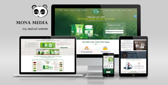 Mẫu website landingpage giới thiệu sản phẩm như tâm an lạc viên