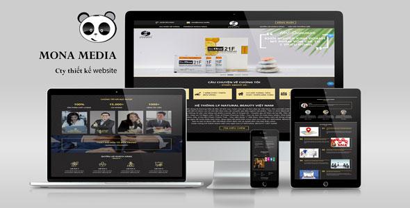 Mẫu website landingpage giới thiệu giống lpnatural beauty