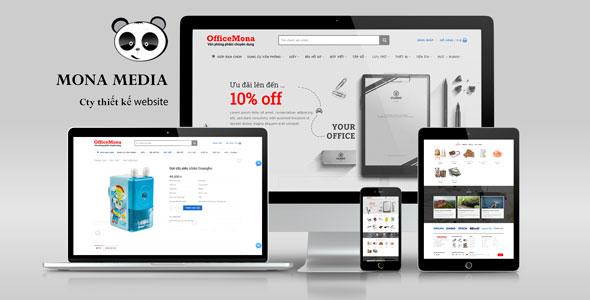 Mẫu website bán hàng văn phòng phẩm