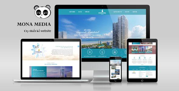 Mẫu website giới thiệu bất động sản Vinpearl Condotel
