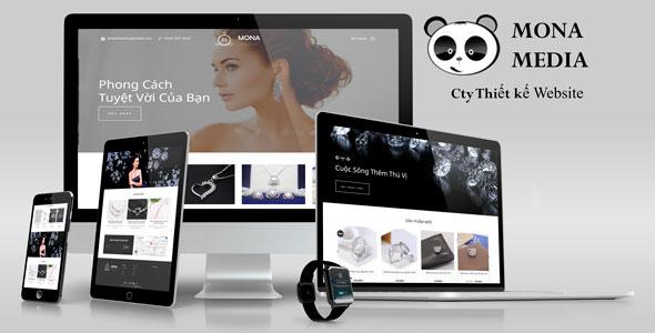 Mẫu website bán trang sức bạc