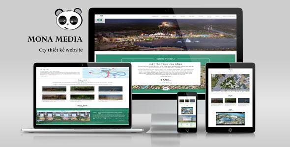 Mẫu website khu đô thị vạn phúc