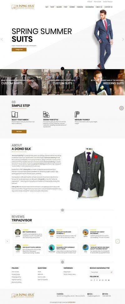 Á ĐÔNG SILK - Custom suit cho khách hàng nước ngoài