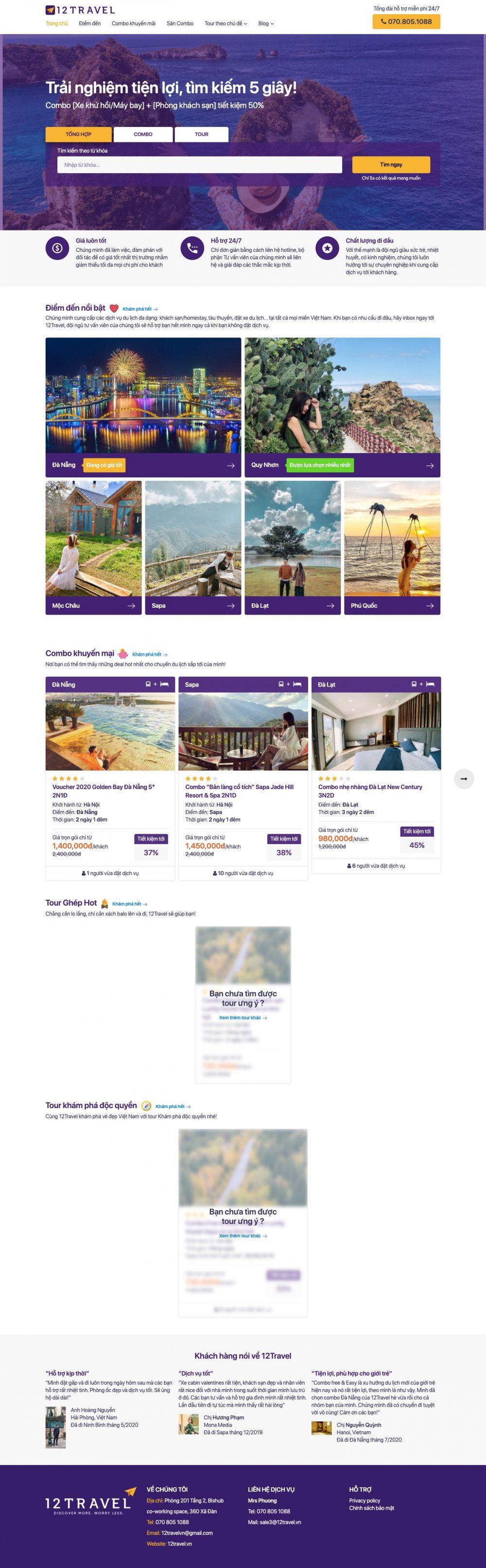 12TRAVEL – Chuyên cung cấp tour du lịch