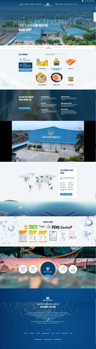 Seaspimex- Thủy sản xuất khẩu
