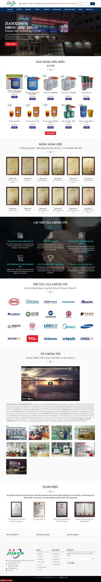 Jianxinvn – Công ty khoa học kỹ thuật