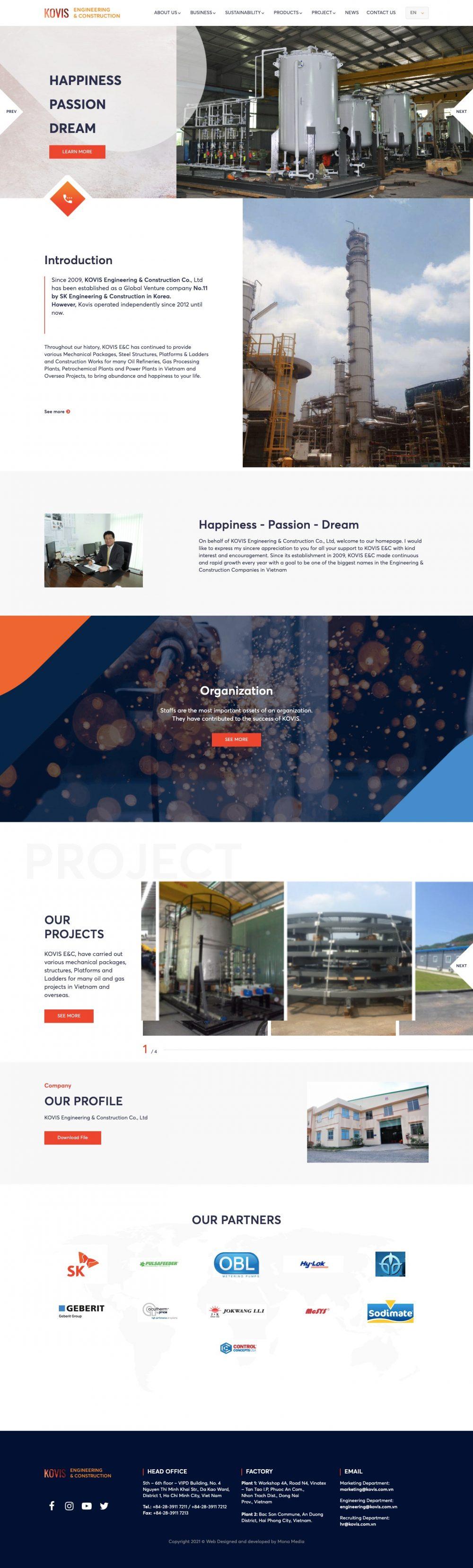 KOVIS E&C – Công ty thi công công trình dầu khí