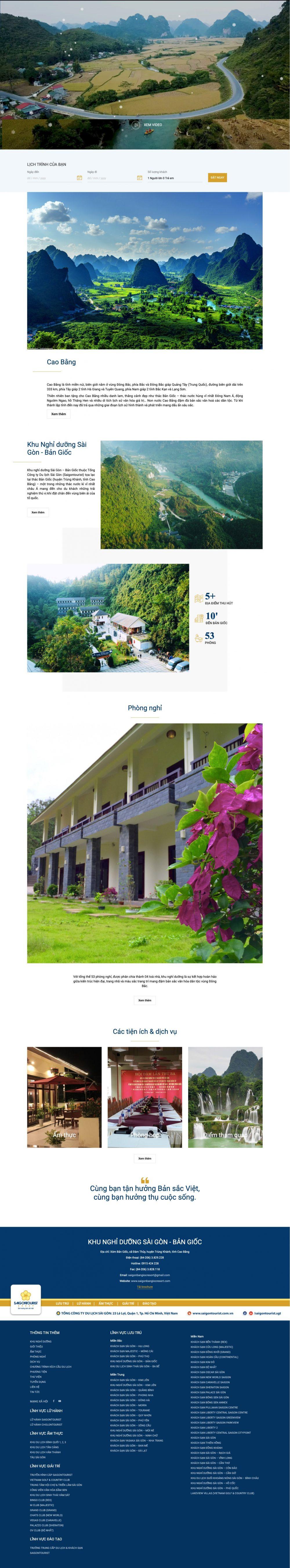 Khu nghỉ dưỡng Sài Gòn – Bản Giốc