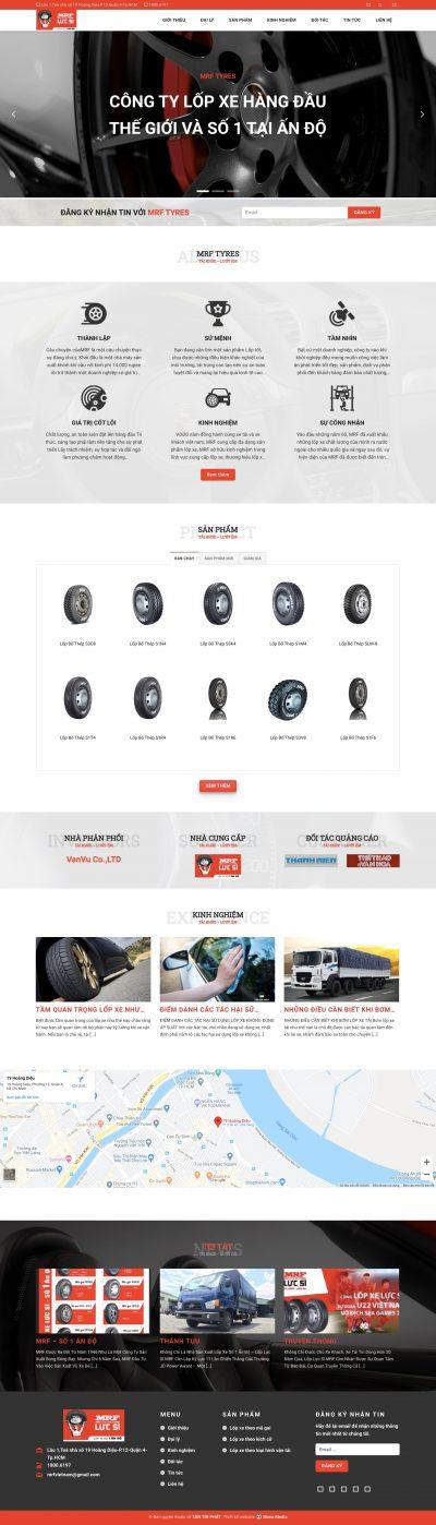 MRF – Công ty phân phối lốp xe từ Ấn Độ