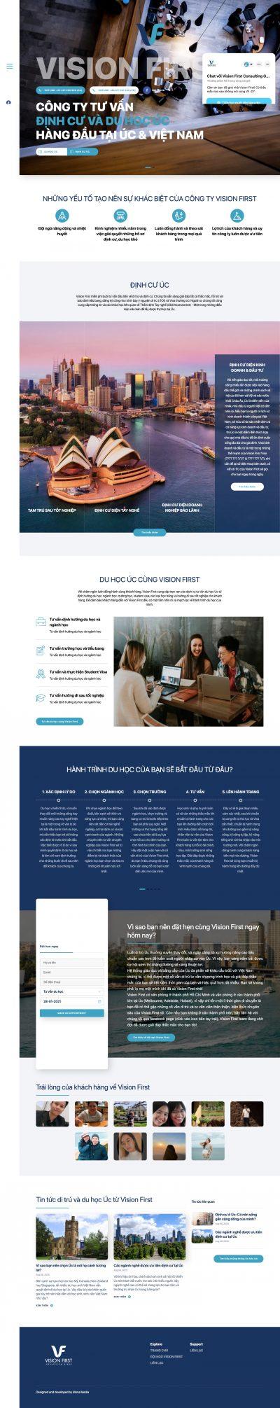 VISION FIRST CONSULTING – Công ty tư vấn du học và định cư Úc