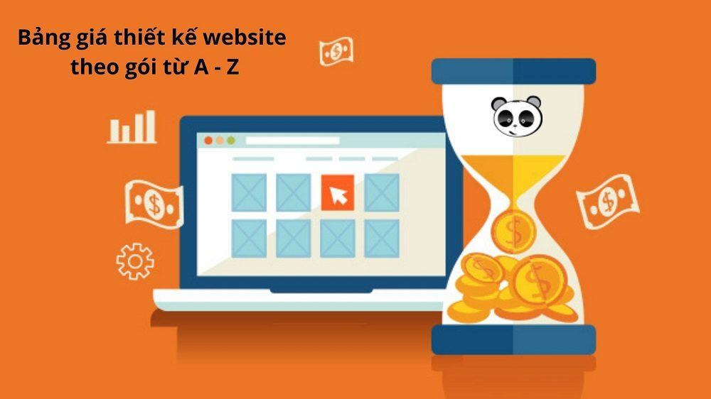 Bảng giá thiết kế website theo gói từ A – Z