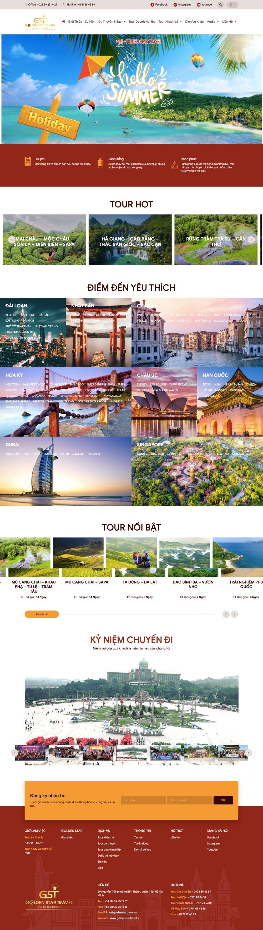 GOLDEN STAR TRAVEL – Chuyên cung cấp tour du lịch