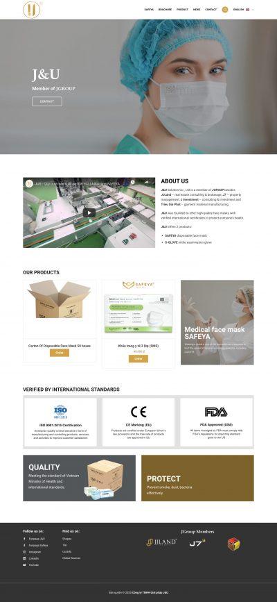 J&U – Công ty sản xuất khẩu trang
