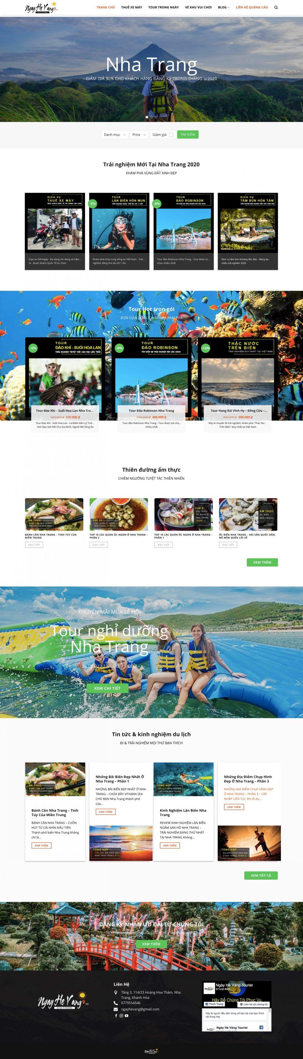 NGÀY HÈ VÀNG – Đại lý du lịch tại Nha Trang