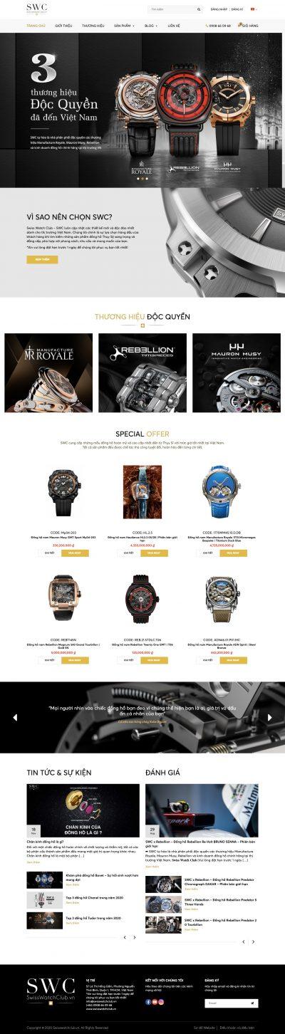 SWC – Kinh doanh đồng hồ Thuỵ Sỹ chính hãng
