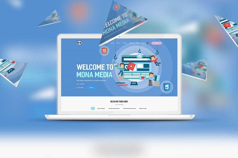 Thiết kế phần mềm chuyên nghiệp với dịch vụ tại Mona Media