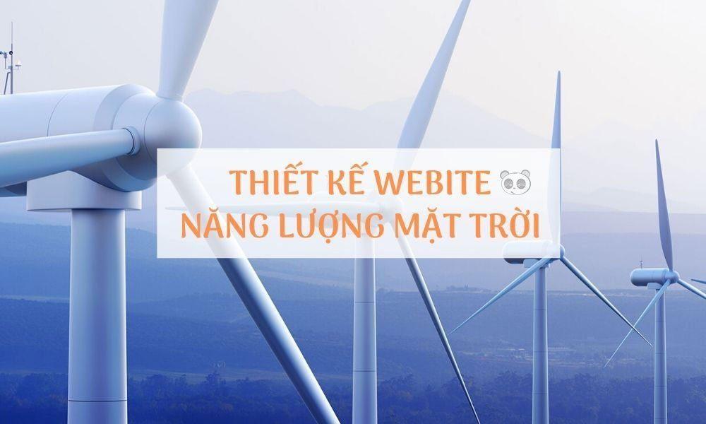 Thiết kế website năng lượng mặt trời – bán pin năng lượng mặt trời