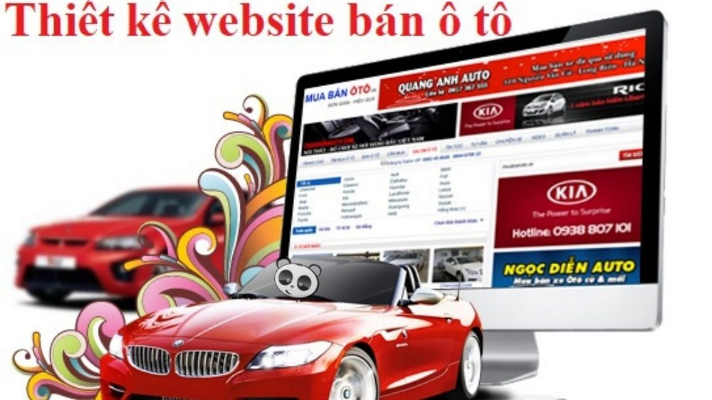 Thiết kế website ô tô – xe hơi – showroom xe
