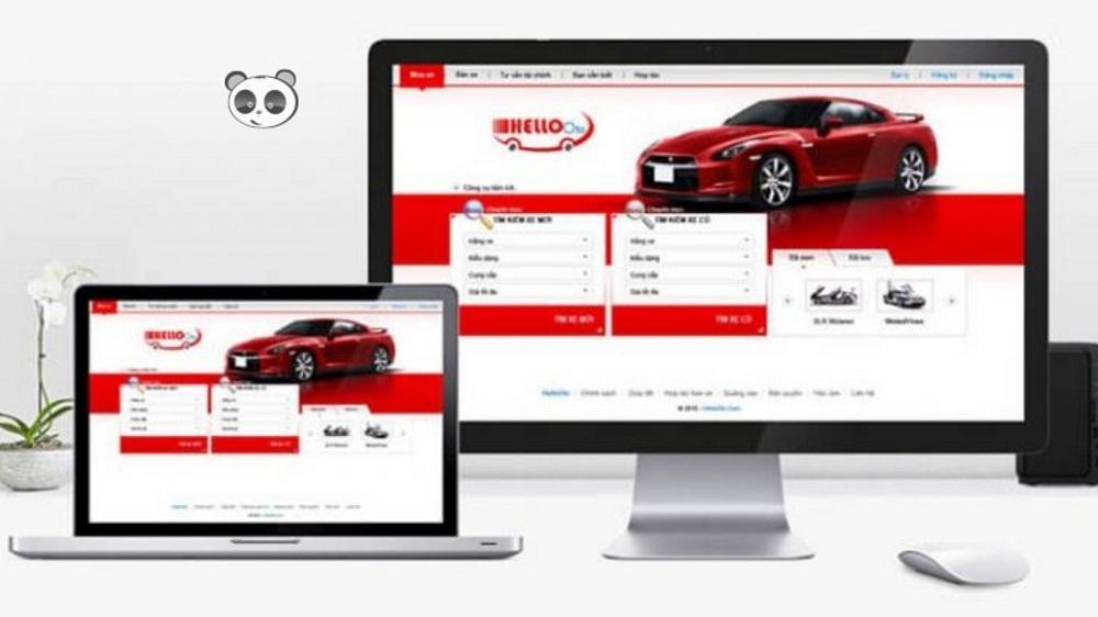 thiết kế website showroom xe